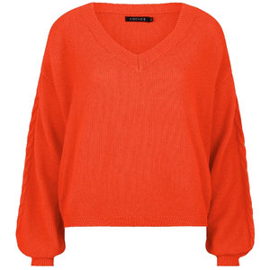 Ydence KNITTED SWEATER INES - ORANGE