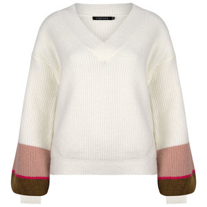 Ydence KNITTED SWEATER VIENNA - ARMY/PINK