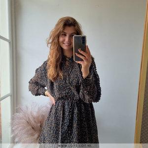 Lotz & Lot NOLA MINI FLOWER DRESS - BLACK
