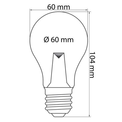 Warm witte LED lampen met grote transparante kap en lens, Ø60