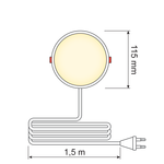 LED Downlight rond - 6 watt - Ø115mm