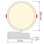 LED Downlight rond - 18 watt - Ø220mm
