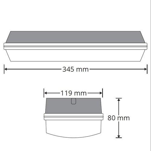 Portiekarmatuur zonder accu - 5,7W