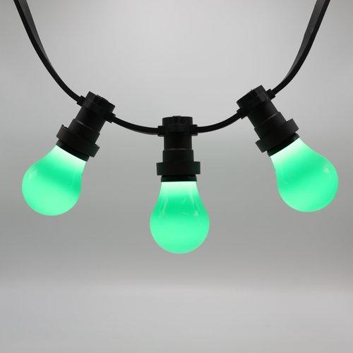 2 en 5 watt groene lampen met grote kap Ø60