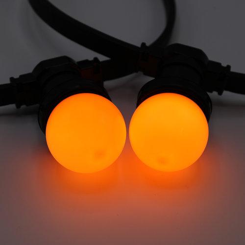 1 watt oranje lampen met standaard kap, Ø45