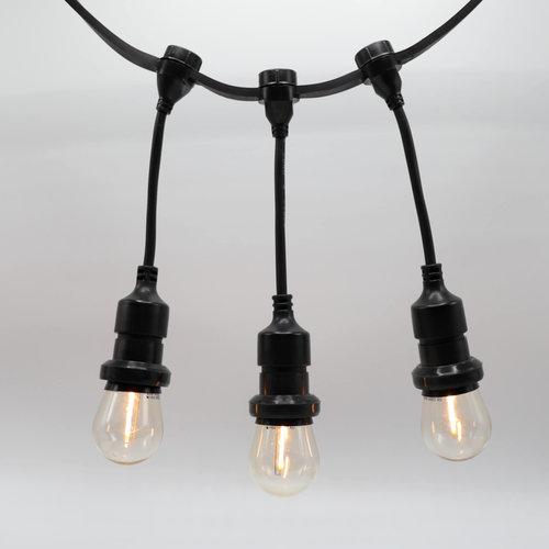Hangende fitting (zwart) - zelfmontage