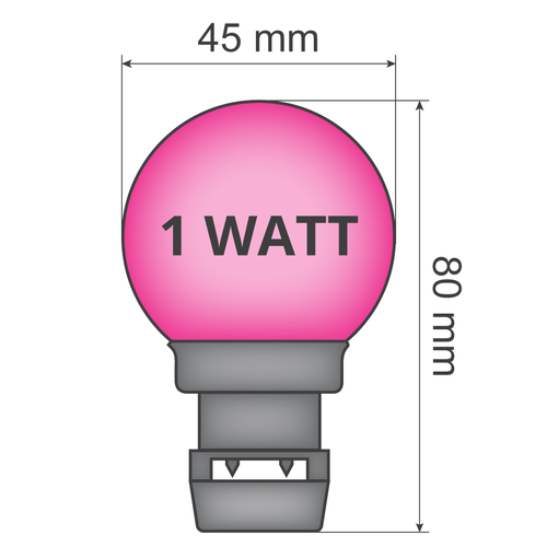 Priklamp - Roze (geen E27 fitting)