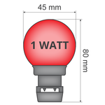 Priklamp - Rood (geen E27 fitting)