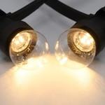 Warm witte LED lampen, LEDs in bodem, standaard transparante kap, Ø45