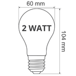Warm witte LED lampen met grote melkwitte kap, Ø60
