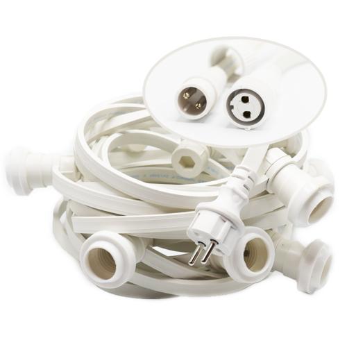 Witte prikkabel | koppelbaar
