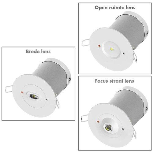 Noodverlichting 2 watt inbouwspot