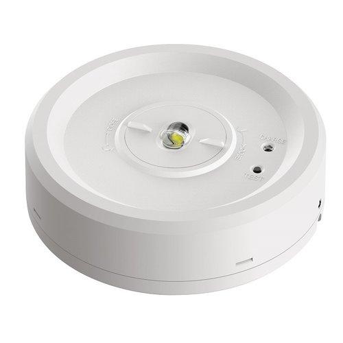 Noodverlichting 2,8 watt opbouwspot met accu en verwisselbare lens