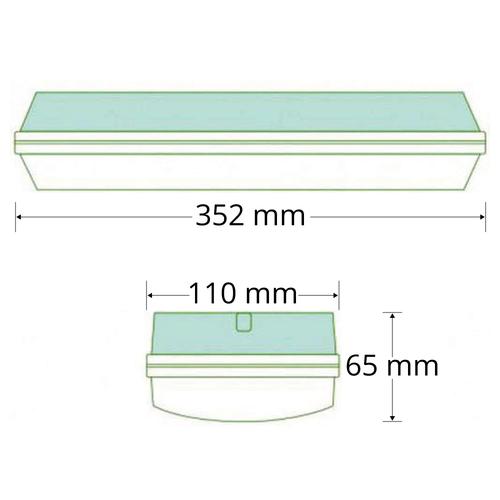 5,5 watt opbouw noodverlichting met autotest