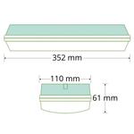 3 watt opbouw noodarmatuur met melkwitte kap, OTG-KL serie