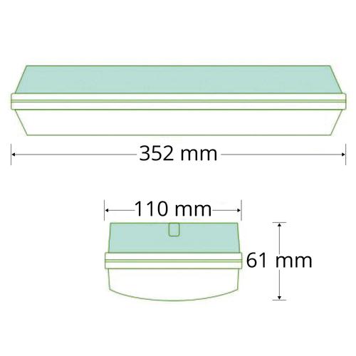 3 watt opbouw noodarmatuur met melkwitte kap