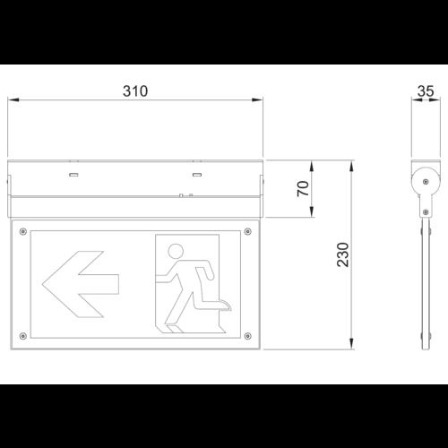 Kantelbare noodverlichting OTG-FF-6