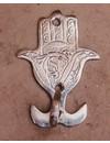 Wandhaak Hamsa zilver S