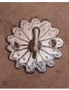 Wandhaak Peacock zilver