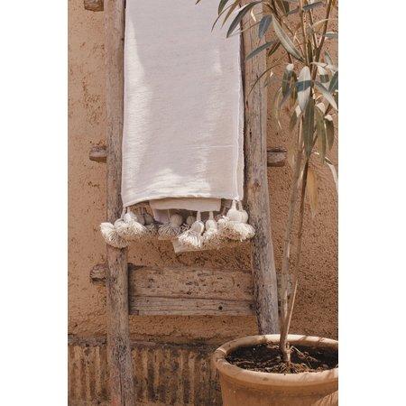 Pompom deken ecru | 3 varianten 200x300 cm