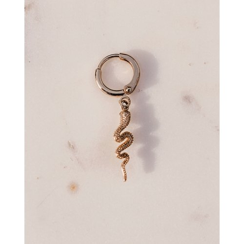 Club Nomad Oorhangers Snake gold plated
