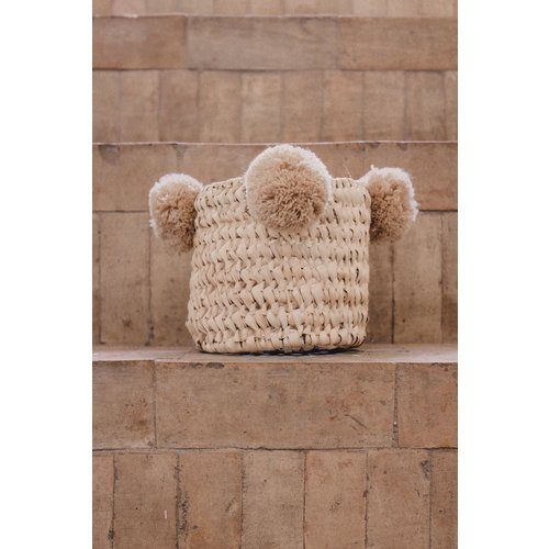 SOLD OUT! Pompom mand beige S