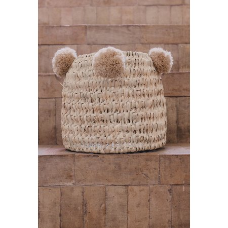 SOLD OUT! Pompom mand beige M