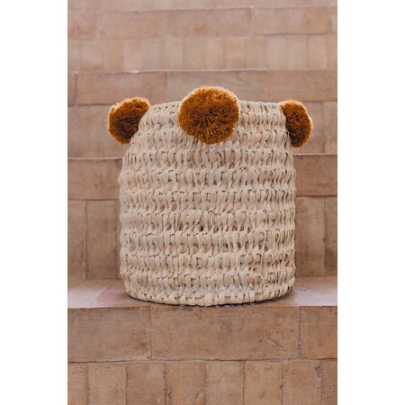 SOLD OUT! Pompom mand roest M