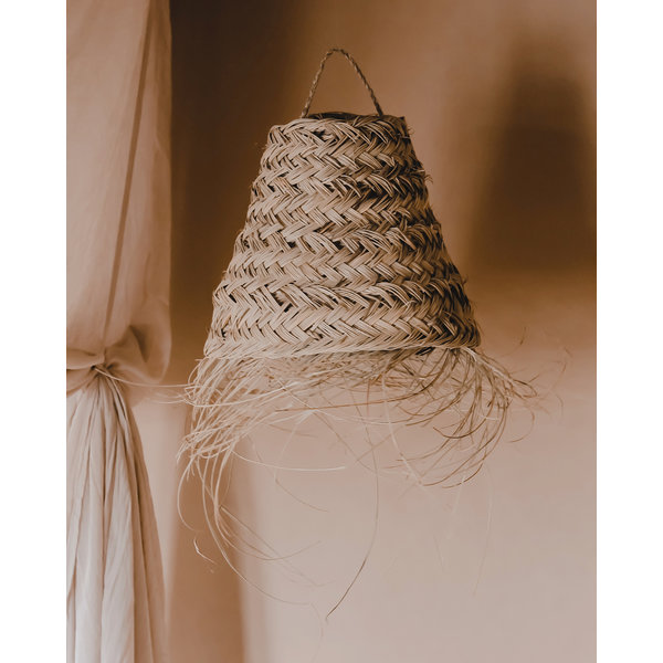 Zeegras fringe lampenkap traingle