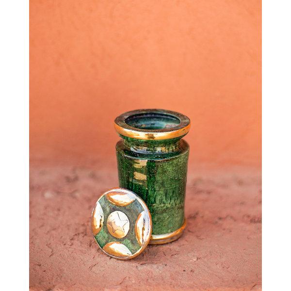 Tamegroute pot met messing detail