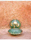 BOUTIQUE ONLY! Tamegroute tajine met messing detail M