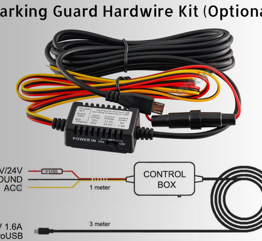 Hardwire kit Micro USB 3-wire