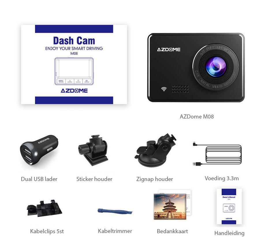 AZDome M08 Wifi FullHD dashcam