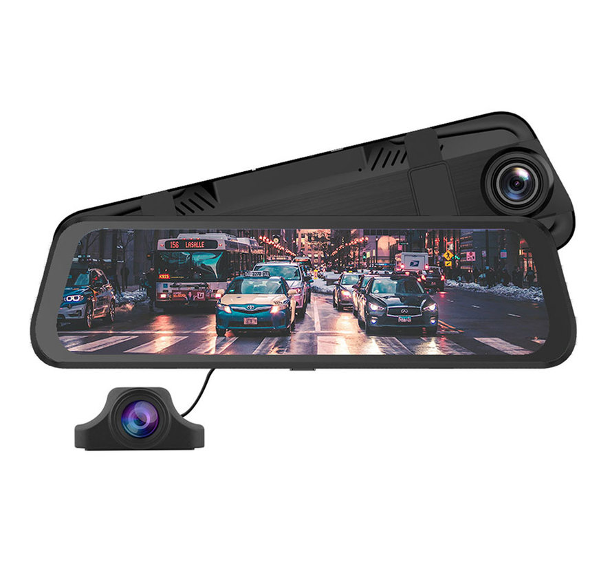 AZDome PG02 2CH Full Mirror GPS Touch 32gb dashcam