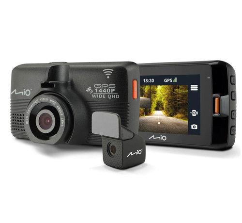 Mio Mio Mivue 752 QHD 2CH Dual Wifi GPS dashcam