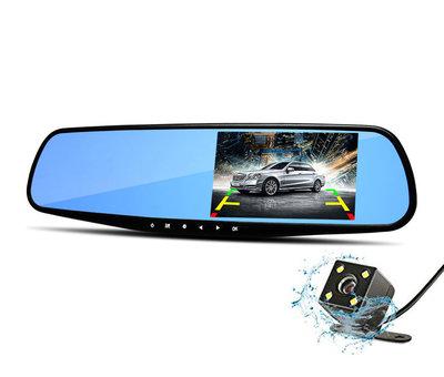 Dashcamdeal Mirror FullHD 1080p 2CH Dual binnenspiegel dashcam