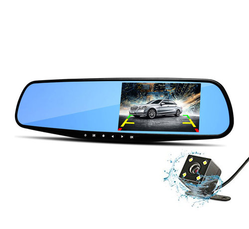 Dashcamdeal Mirror FullHD 1080p 2CH Dual  Blue dashcam