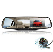 Dashcamdeal Mirror FullHD 1080p 2CH Dual Clear dashcam