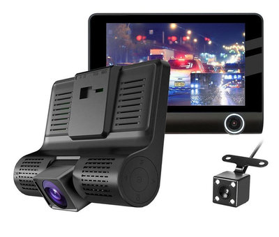 Dashcamdeal T7 Taxi Triple 3CH 4.0 inch LCD dashcam