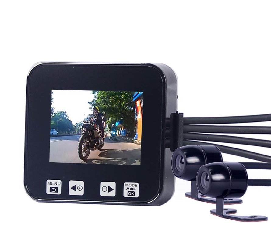 Motocam C6 HDR 2CH Dual motorcycle dashcam
