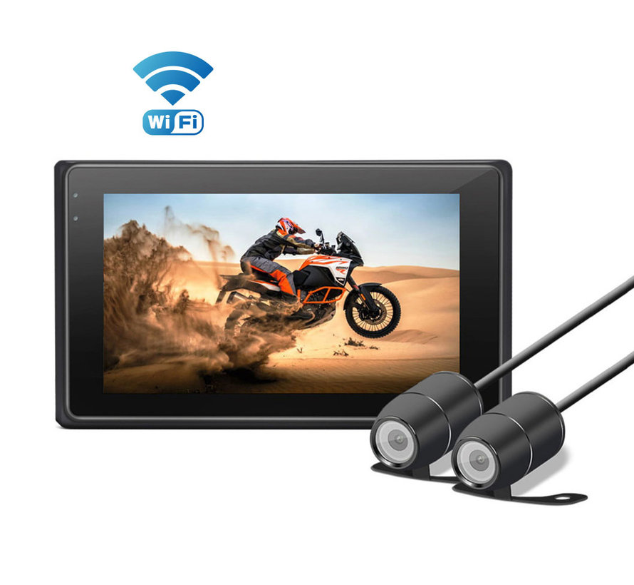 Motocam M2F Wifi 2CH Dual FullHD motorcycle dashcam