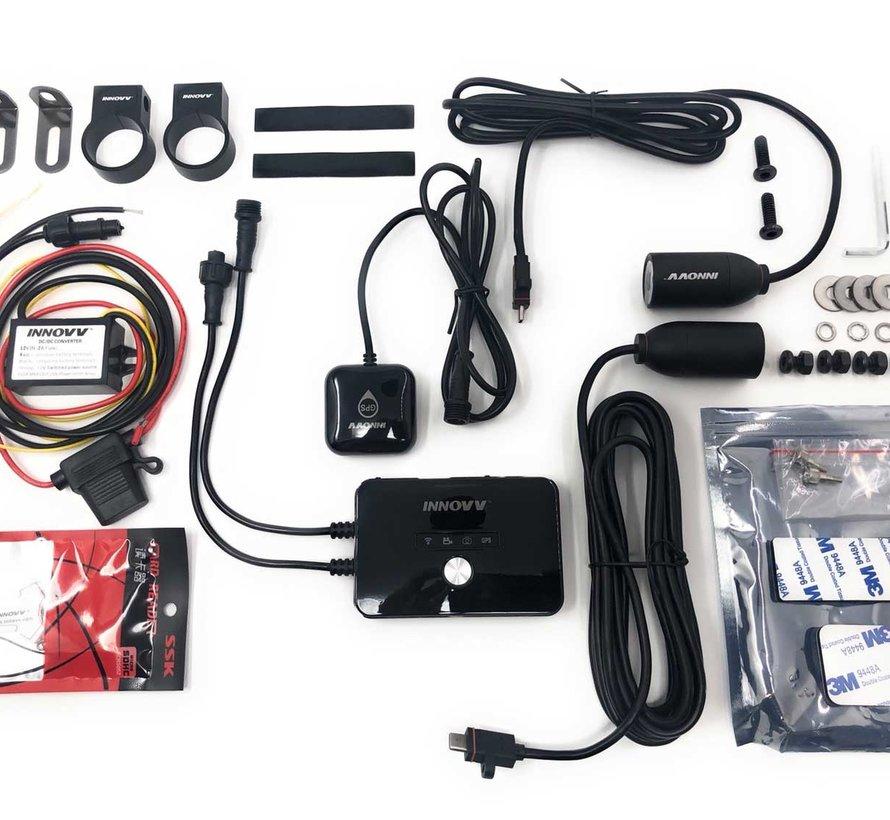 Innovv K2 2CH Dual Wifi GPS motorcycle dashcam