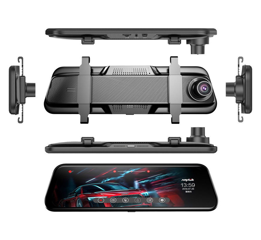 Anytek T12+ 2CH Full Mirror Touch FullHD dashcam