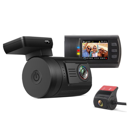 Dual 2CH Dashcams with rear camera