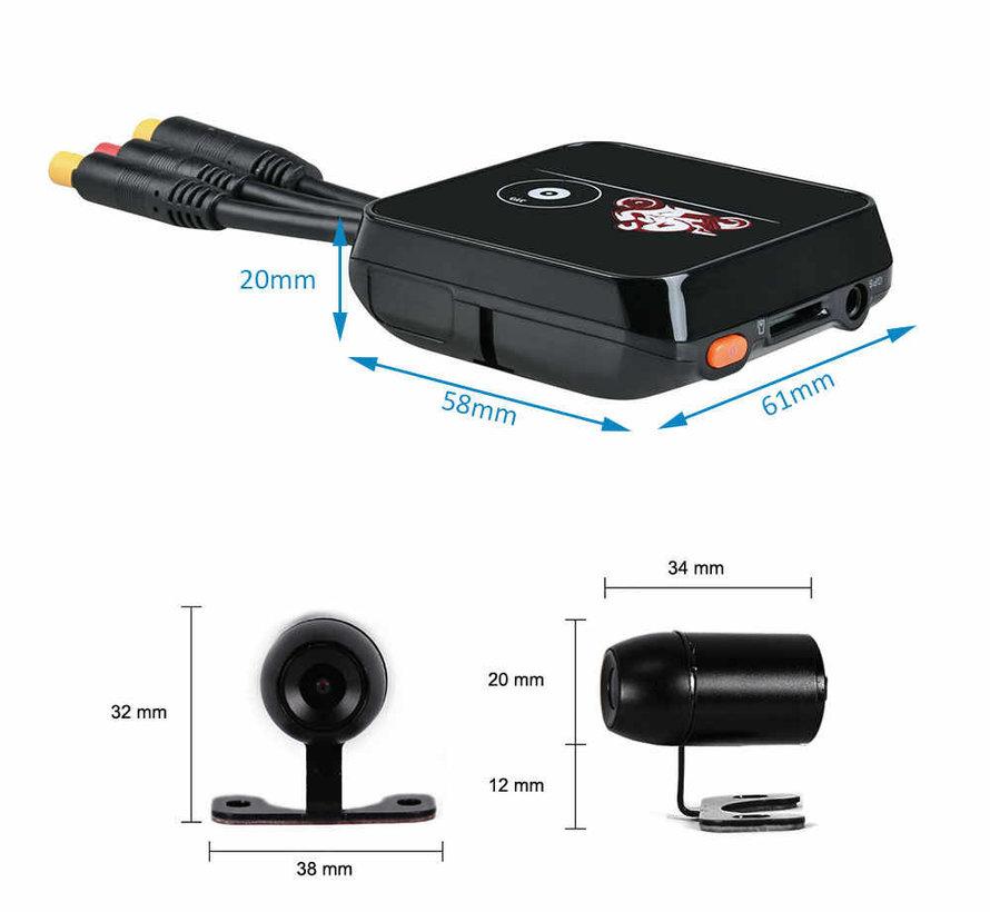 Motocam E6L 2CH Dual Wifi motorcycle dashcam