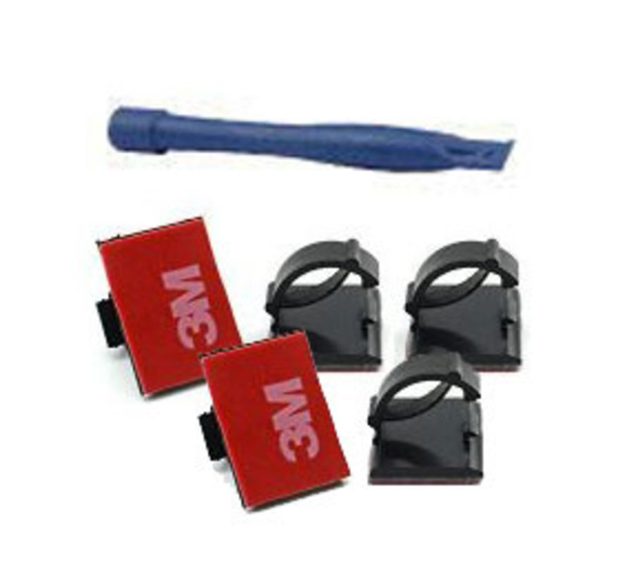 5pc adhesive cable clips with trimmer