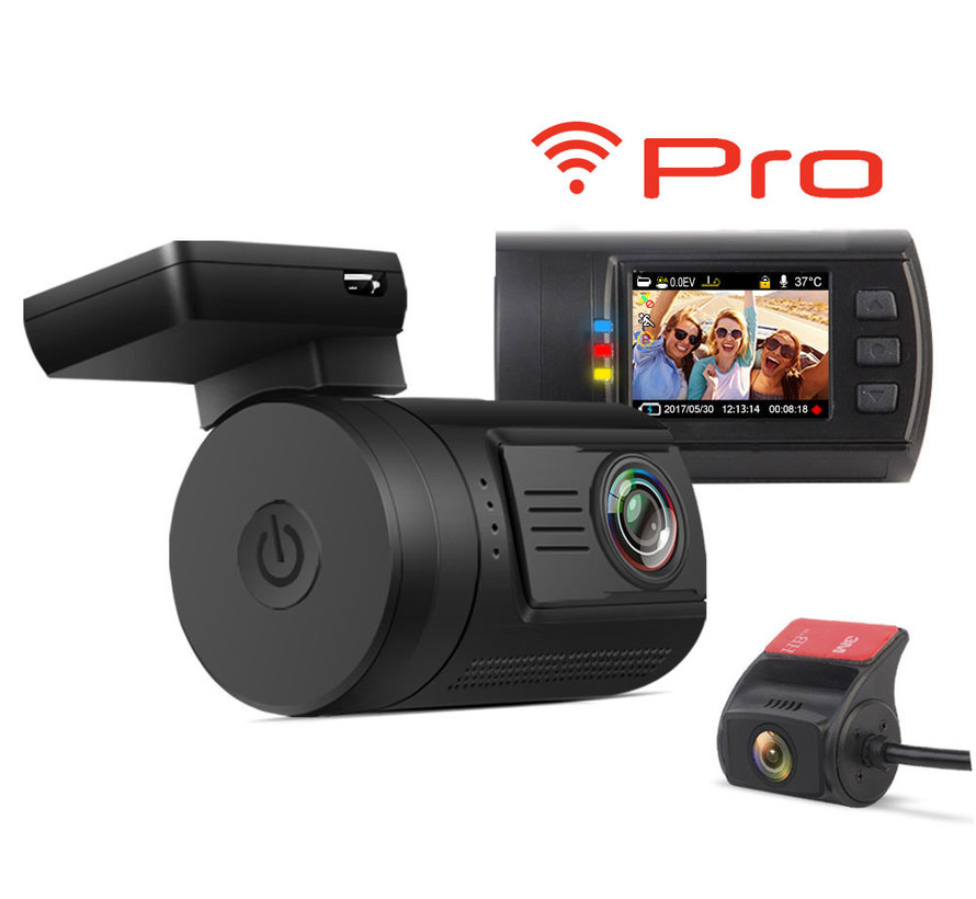 Mini 0906 Pro 2CH Dual Wifi GPS FullHD dashcam