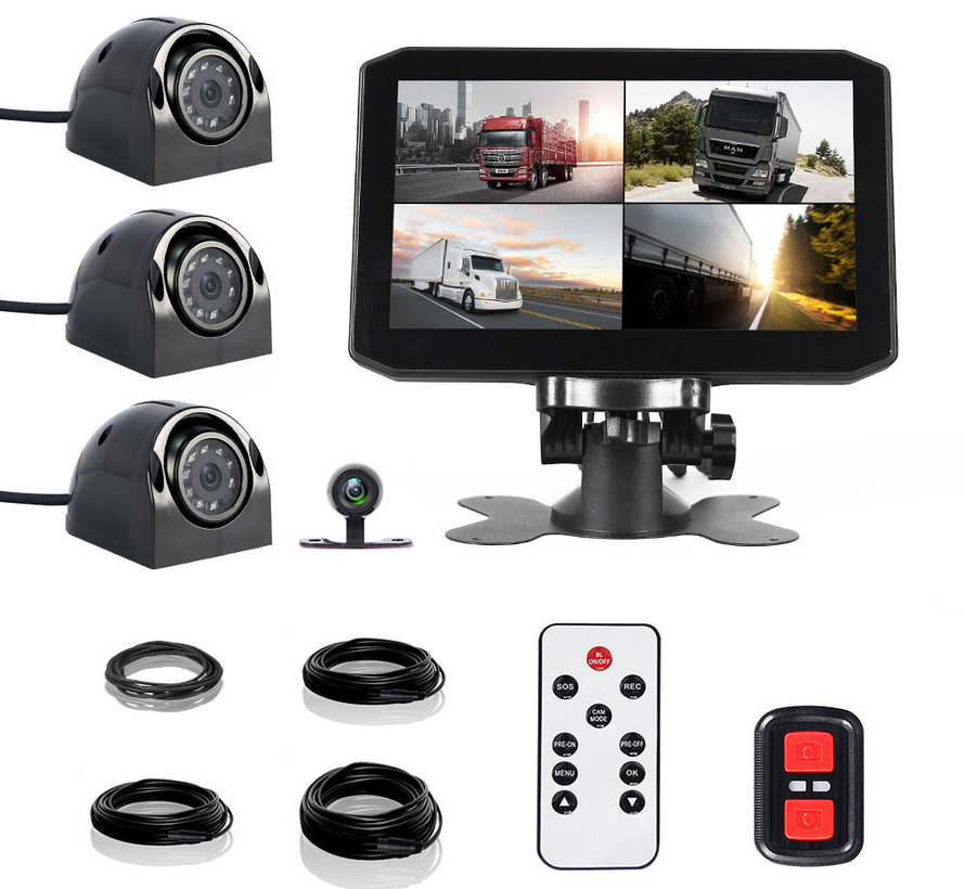 Motocam X17 4CH Wifi GPS FullHD truck dashcam