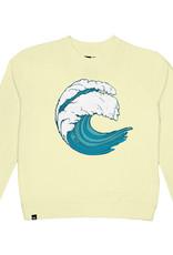 Dedicated SWEATSHIRT YSTAD WAVE, PALE YELLOW MET ZACHT BORDUURSEL