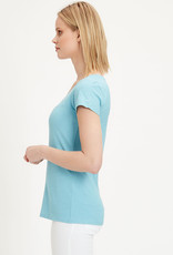 Organication T-SHIRT V NECK MILKY BLUE